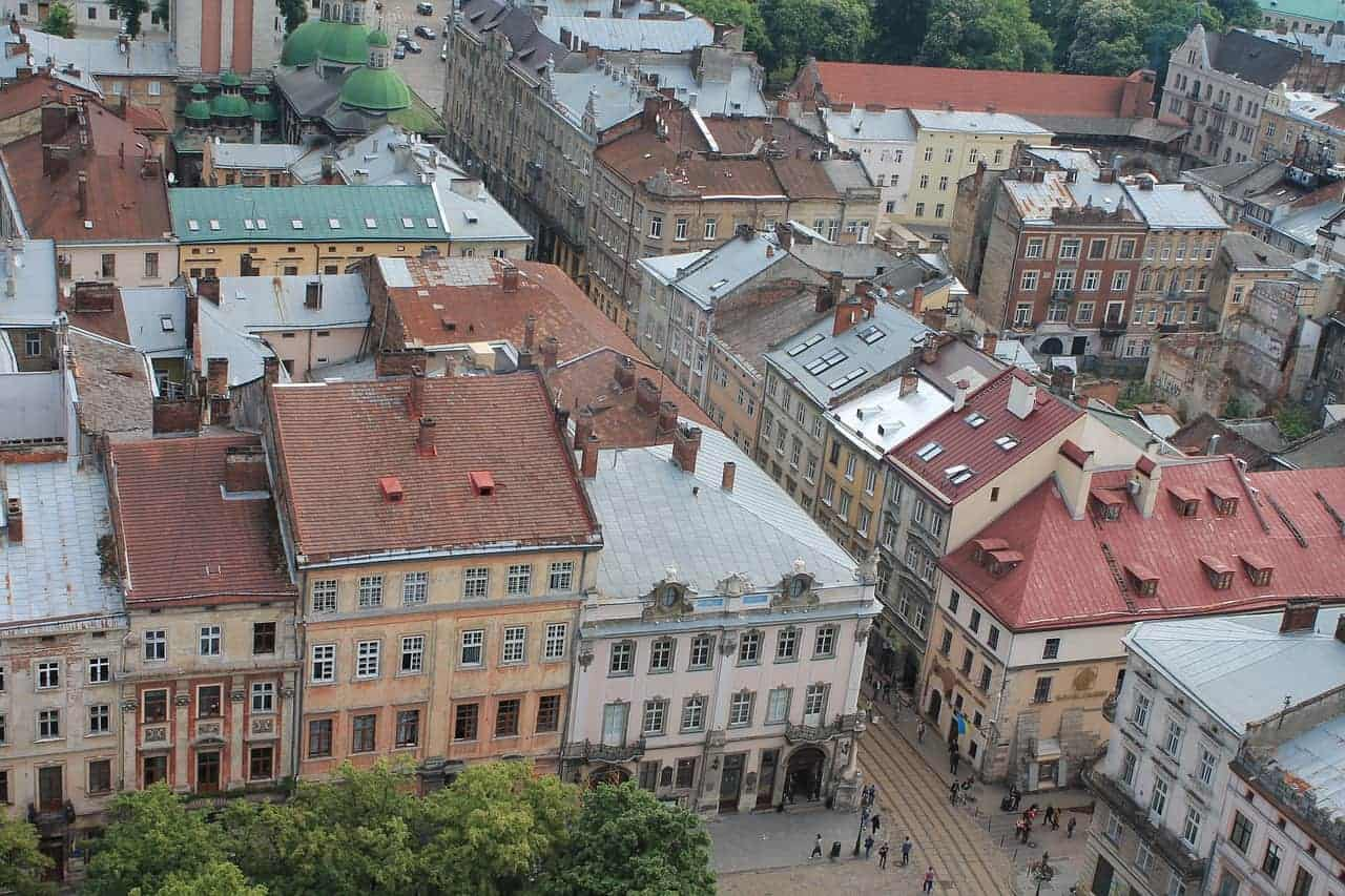 Lviv looks beautiful from the above.