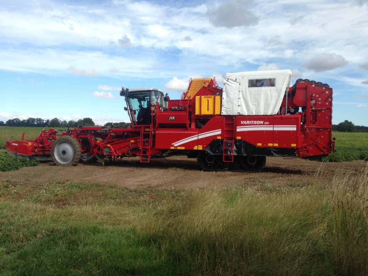 harvester mister mounted on a grimme potato harvester