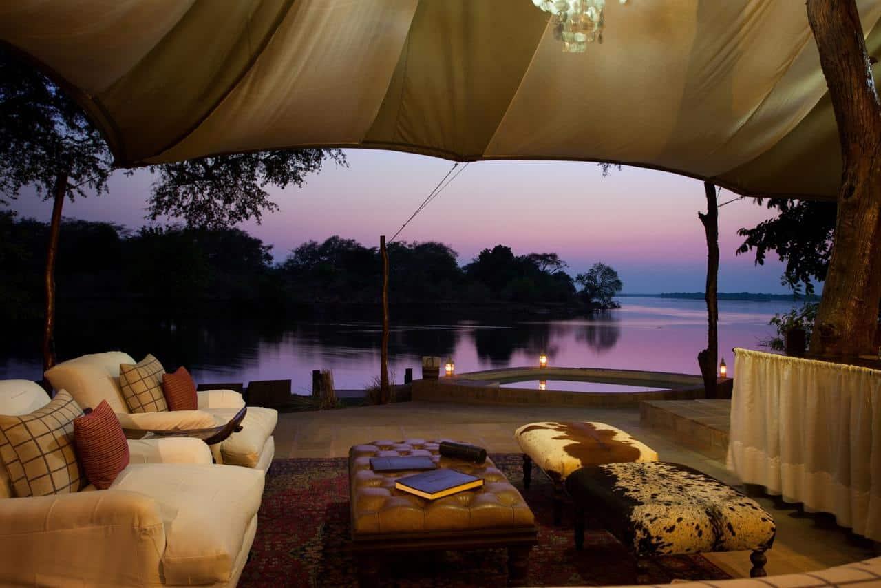 Chongwe River Camp Tents Lounge