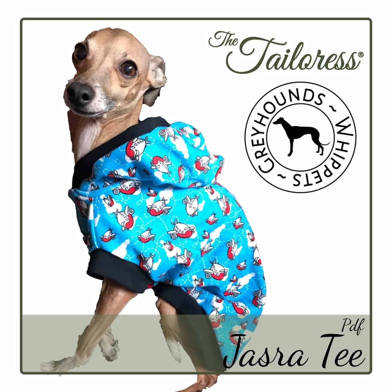 Jasra Tee For Whippets And Greyhounds