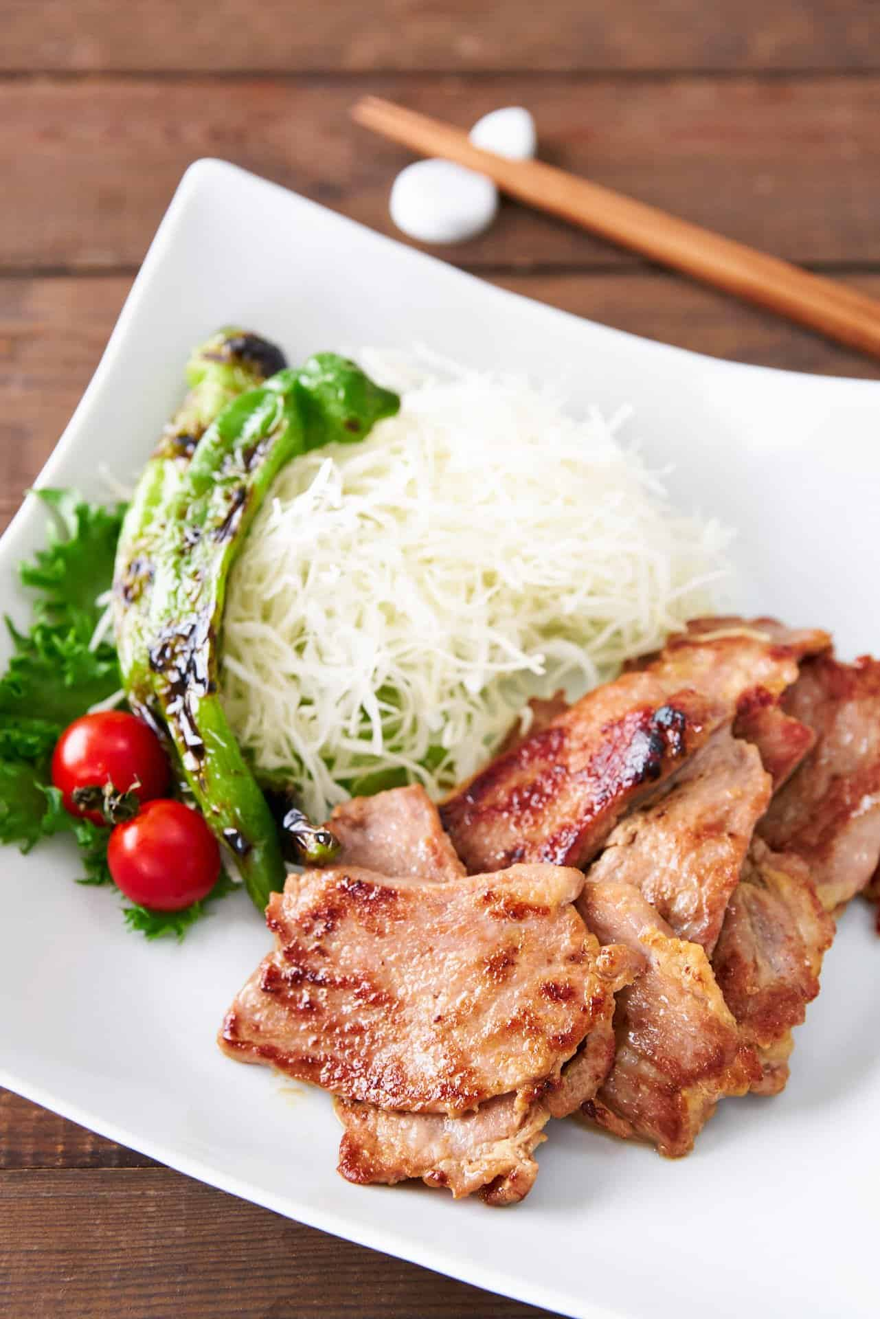 A fragrant ginger and soy sauce marinade turns a cheap cut of pork into tender and delicious Japanese-style Ginger Pork, or Shogayaki.