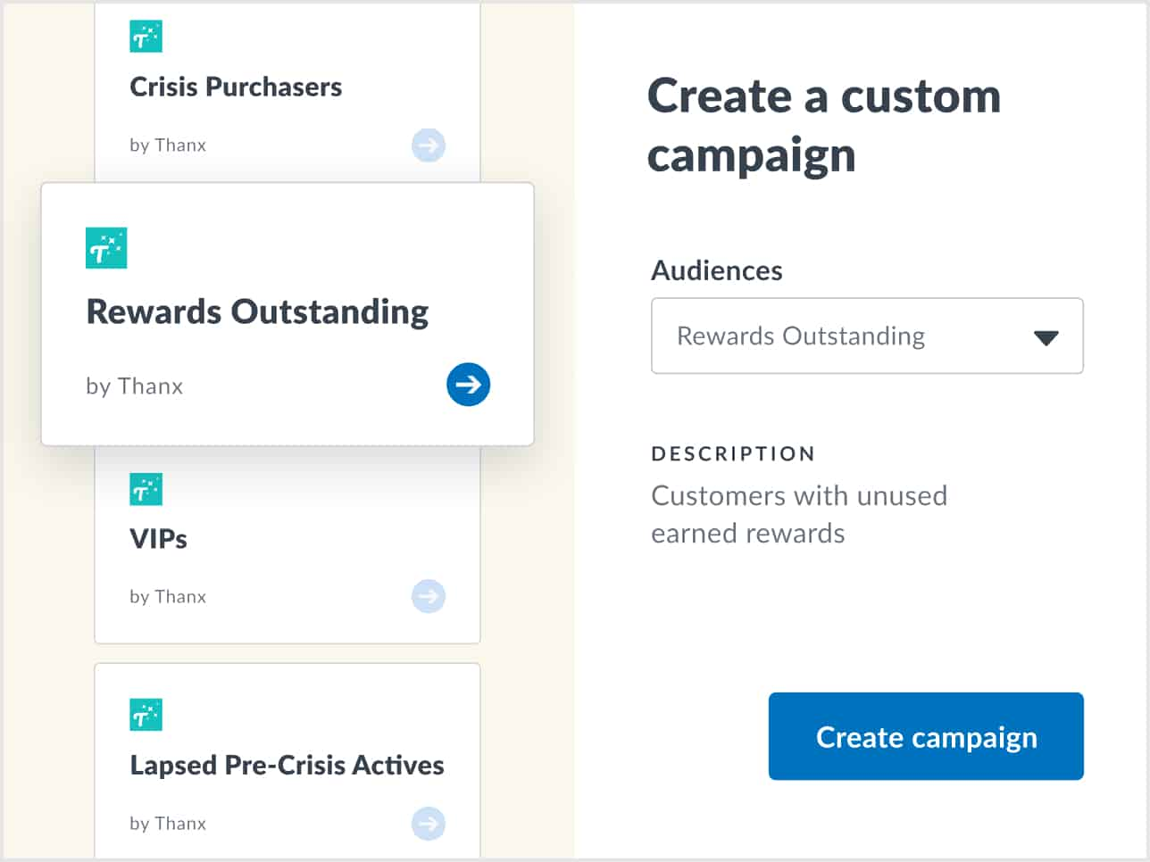 Automated campaigns in Thanx