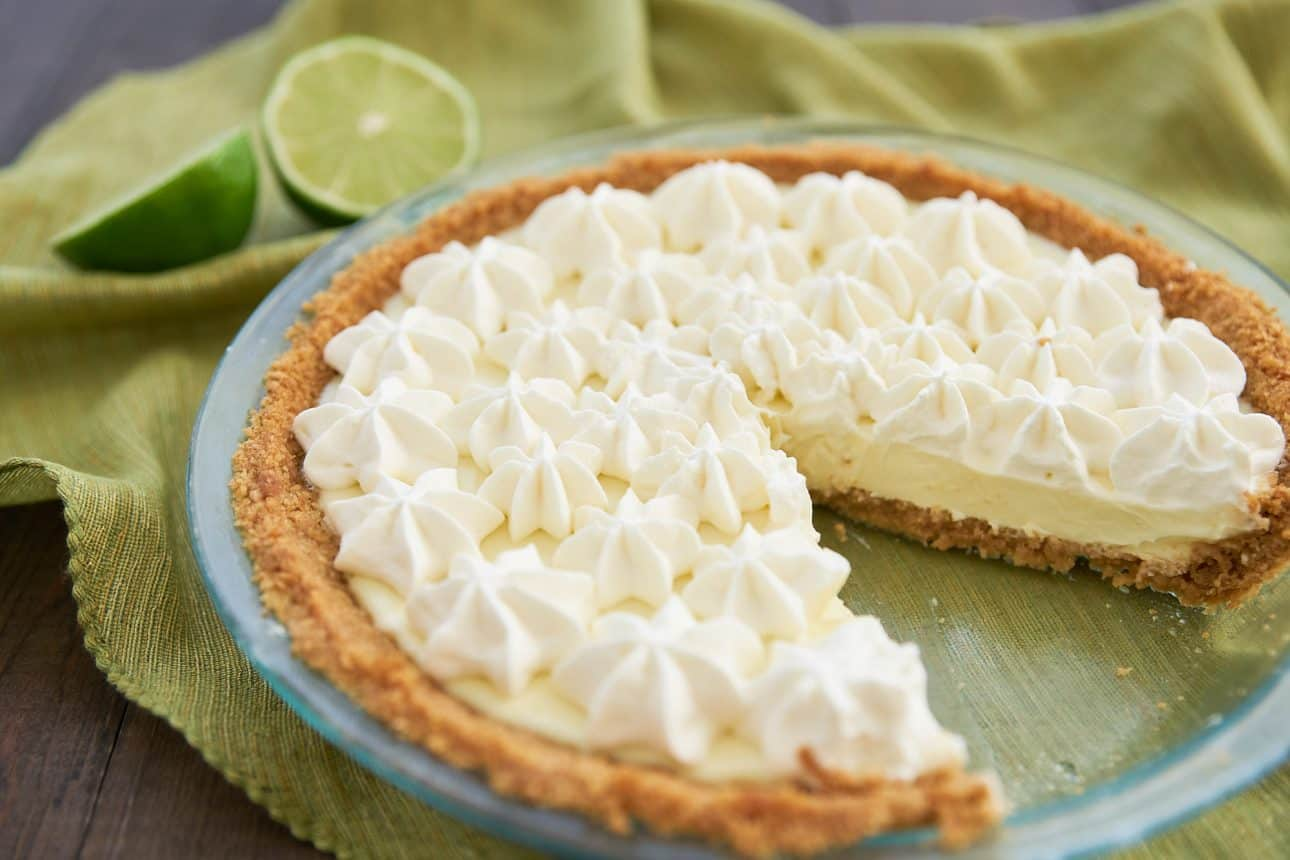 This Key Lime Pie is easy and delicious thanks to a neat trick the sets the filling without baking it.