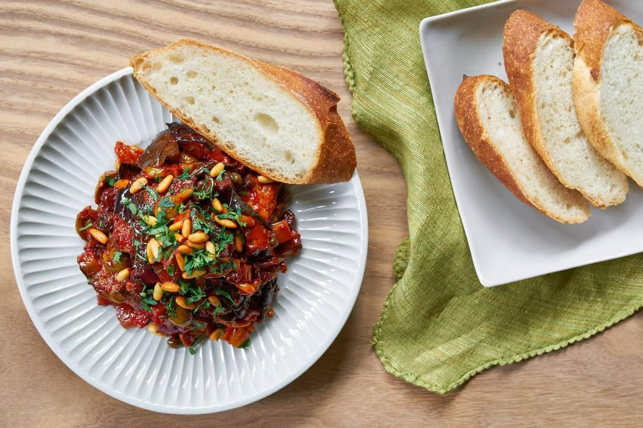 A simple Sicilian Caponata that comes togehter in under 30 minutes.