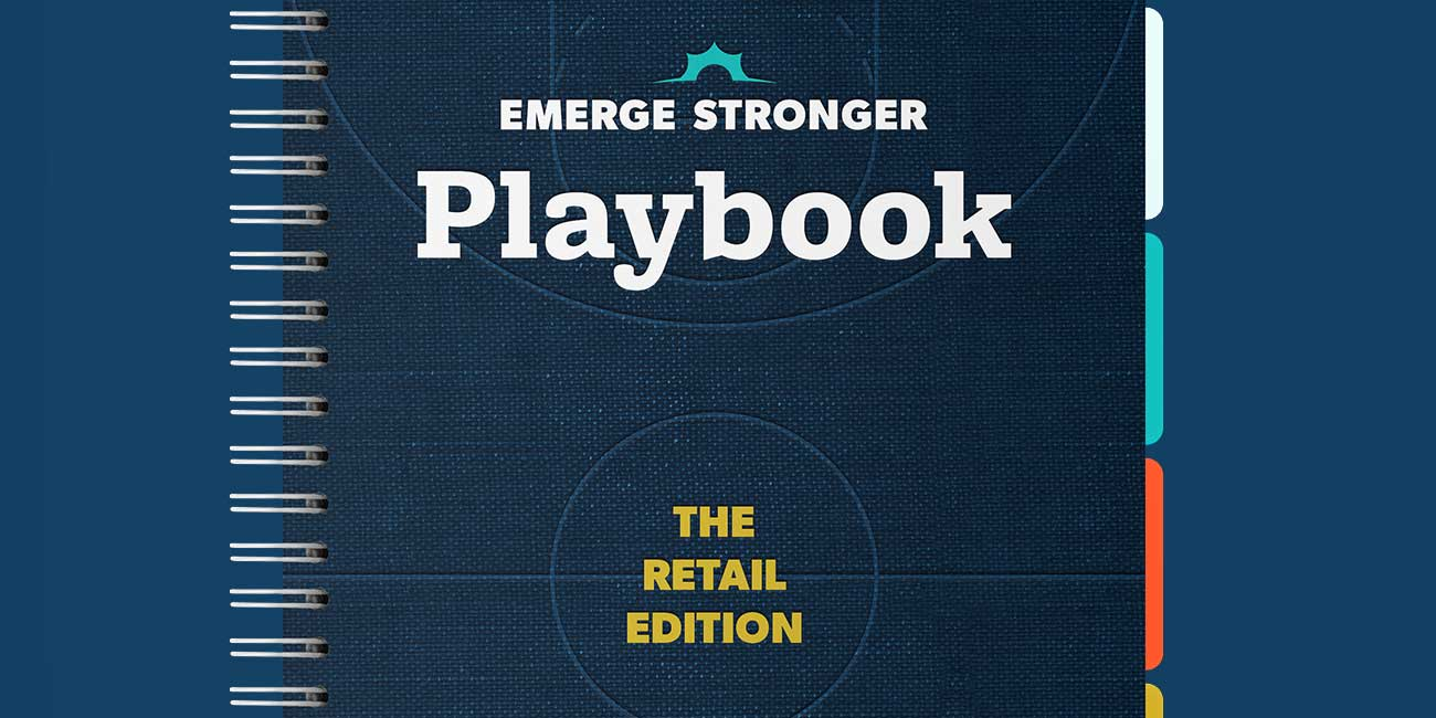 Thanx Emerge Stronger Playbook: Retail Edition mockup