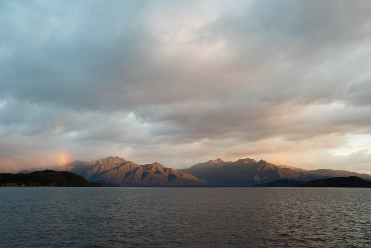 The boat ride across Lake Manapouri to reach New Zealand's Doubtful Sound