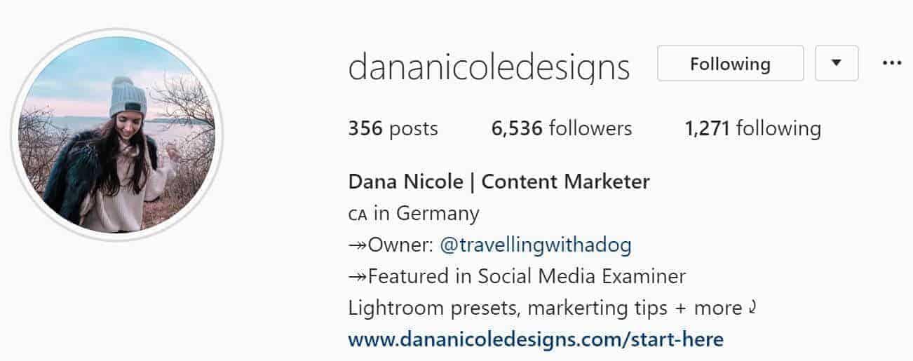 instagram screenshot profile