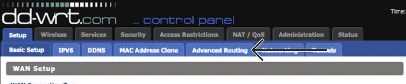 """Click """"Advanced Routing."""""""