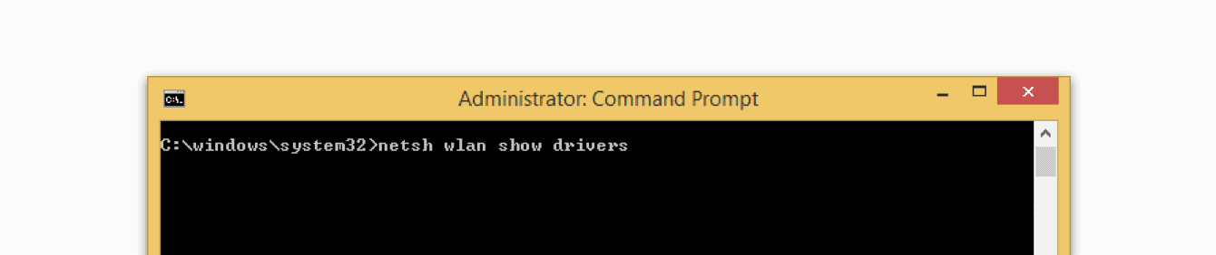 Type the command in the Command Prompt.