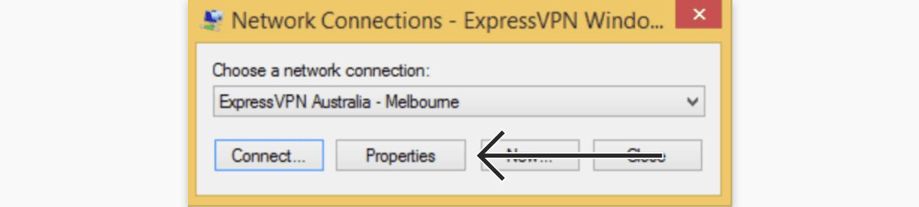 "Click ""Properties."""