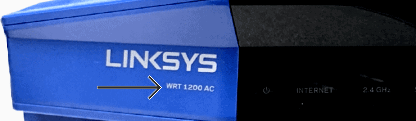 The front of Linksys WRT1200AC.