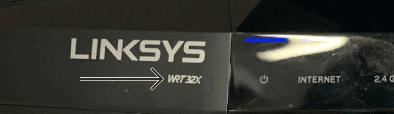 The front of Linksys WRT32X.