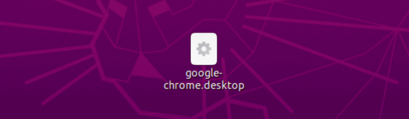 "Copy and paste ""google-chrome.desktop"" to your desktop."