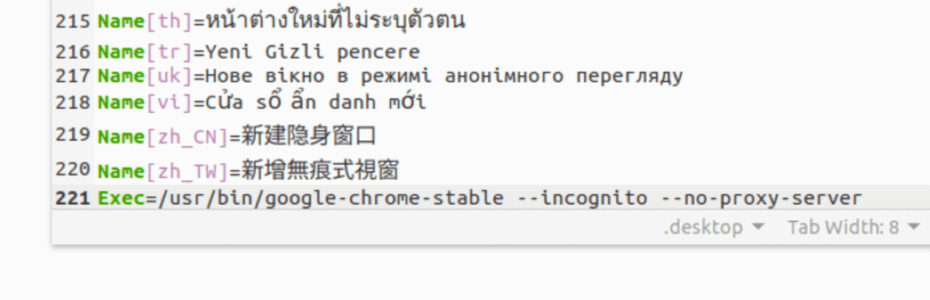 "Add ""no proxy server."""