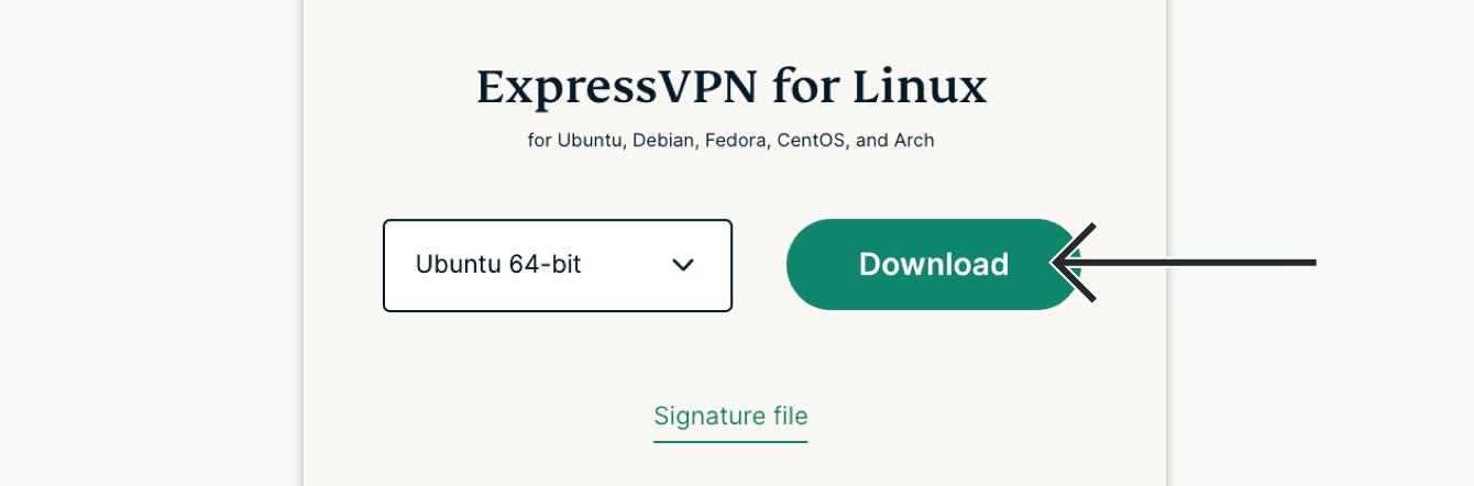 "Select ""Ubuntu 64-bit"" or ""Ubuntu 32-bit,"" then click ""Download."""