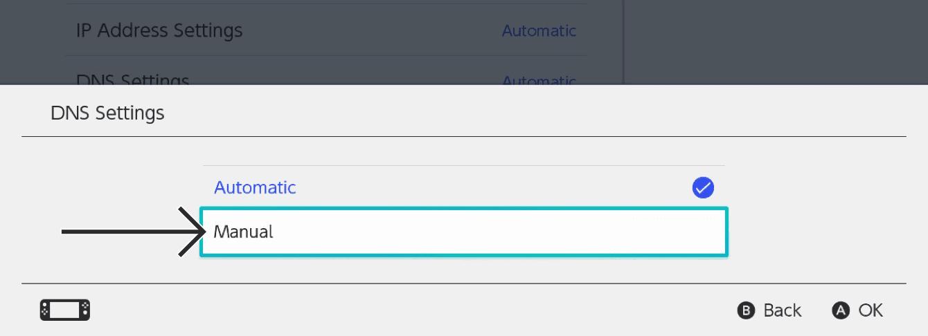 """Select """"Manual."""""""