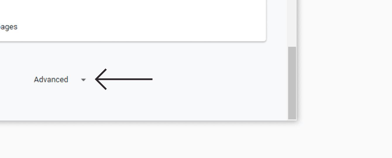 """Click """"Advanced."""""""