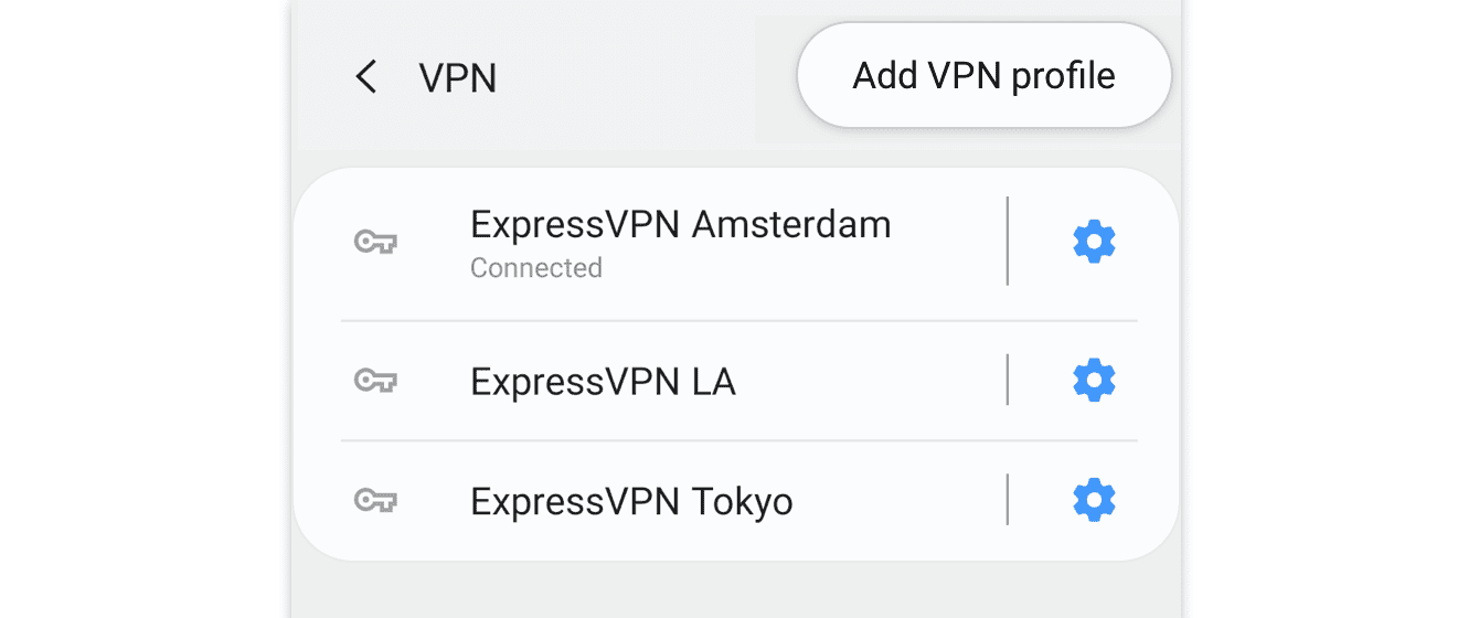Tap and hold your existing VPN profile.
