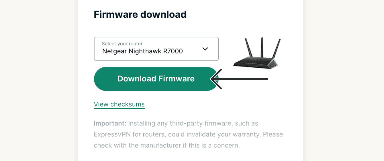 """Klicken Sie auf """"Firmware herunterladen""""."""