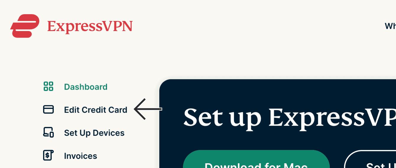 """Select """"Edit Credit Card."""""""