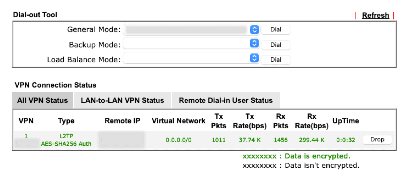 """Once you are successfully connected to the VPN, your connection profile will be shown in green under """"VPN Connection Status."""""""