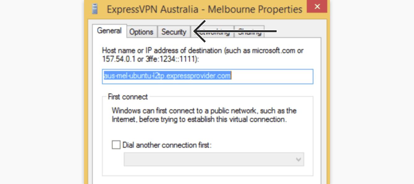 "Click ""Security."""