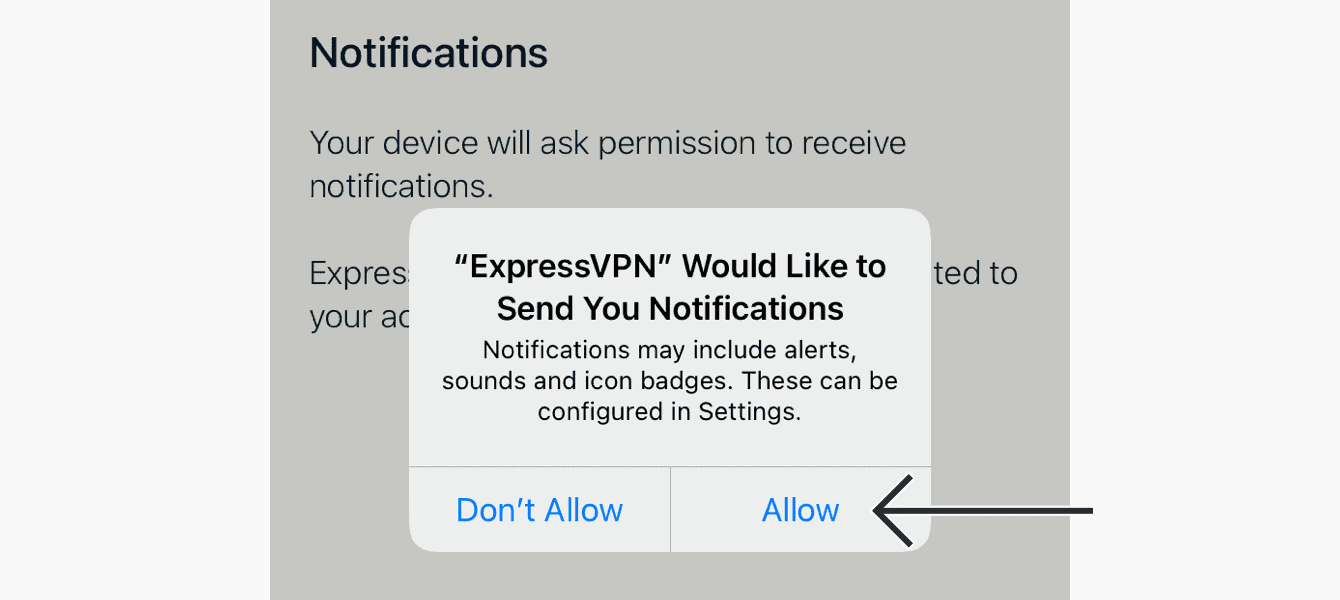 "If you agreed to receive notifications, select ""Allow"" to receive notifications."