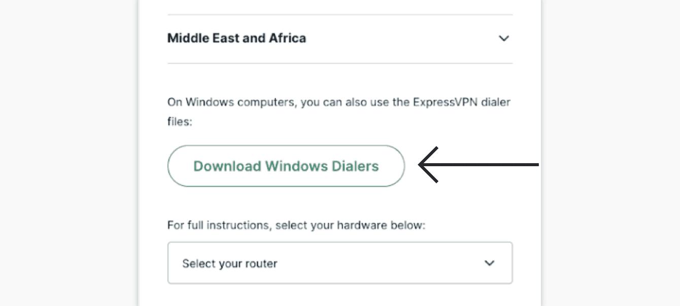 "Click ""Download Windows Dialers."""