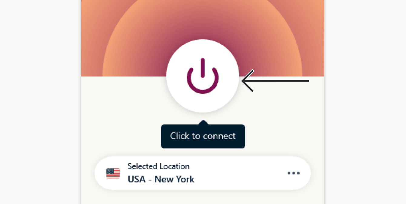 Click the On Button to connect.