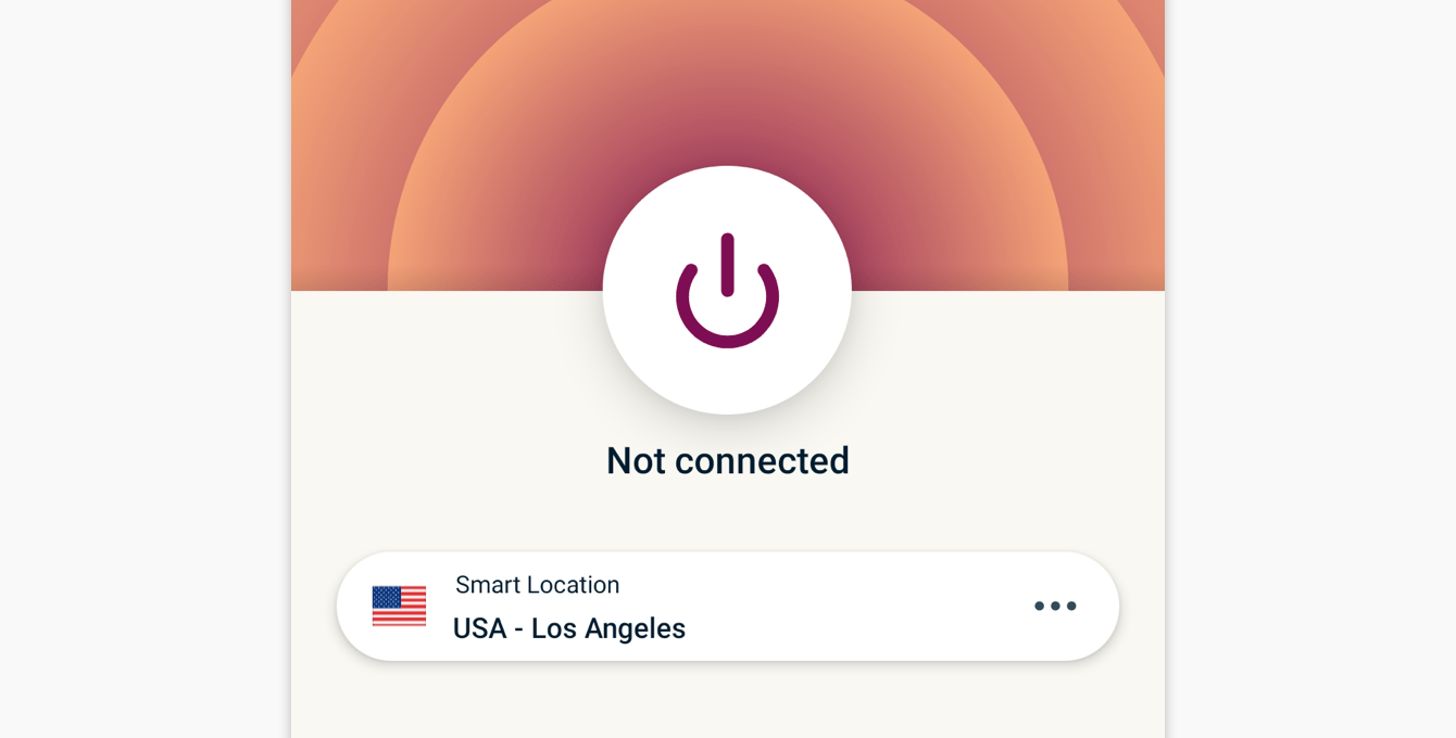 You are not connected to ExpressVPN.