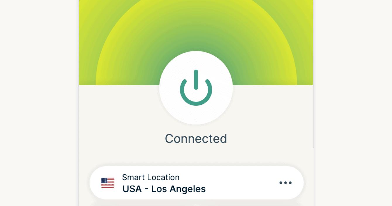 The ExpressVPN app interface.