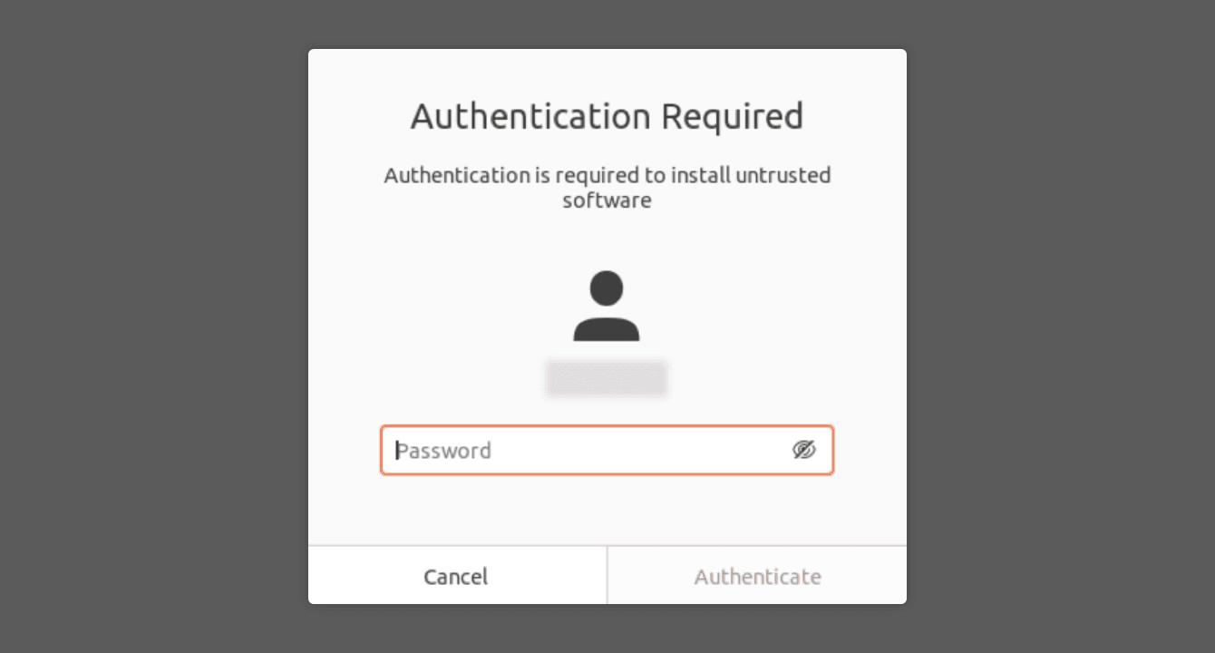 "Enter your password, then click ""Authenticate."""