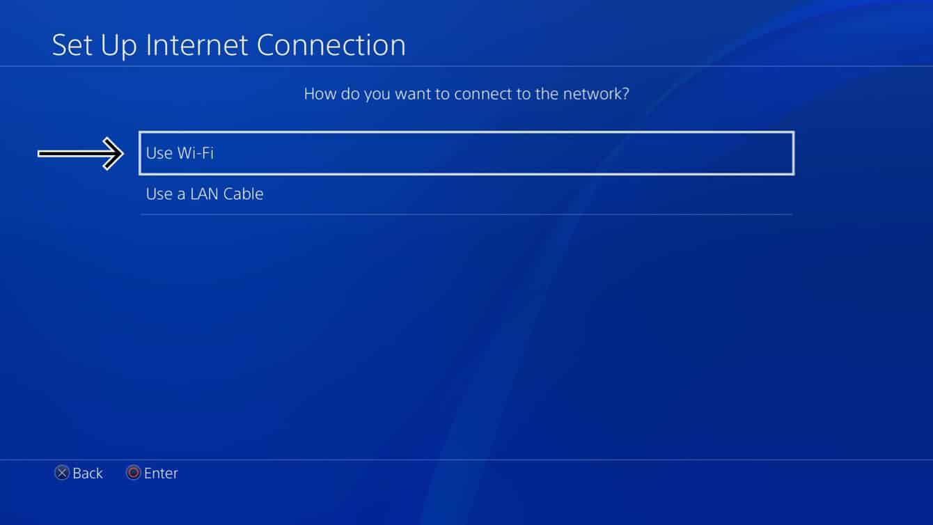 Select your connection method.