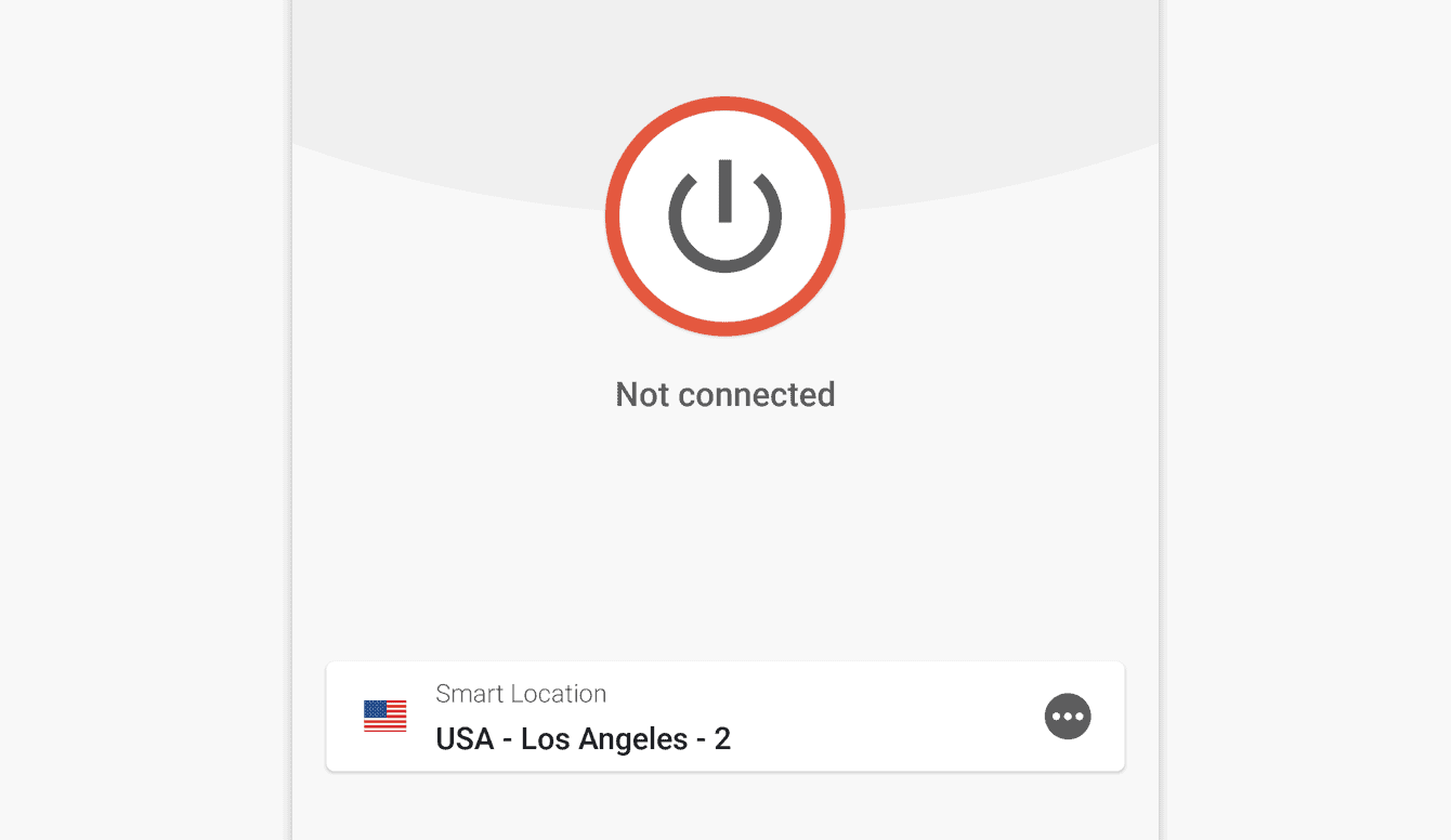 """The screen reads """"Not connected"""" when you are disconnected."""