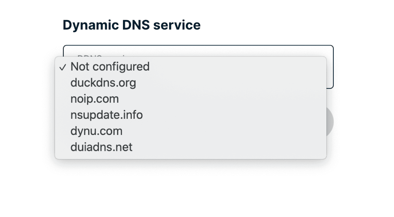 Select the DDNS service you are using.