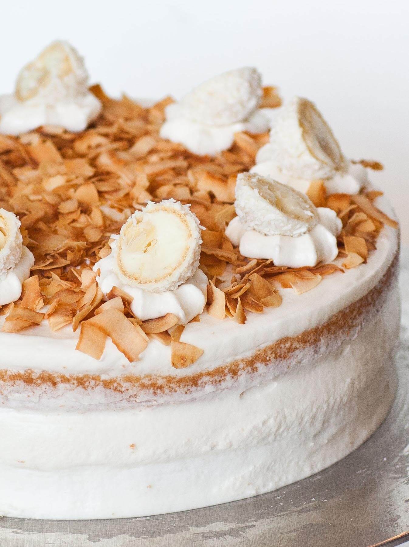 coconut almond cake with rafaello