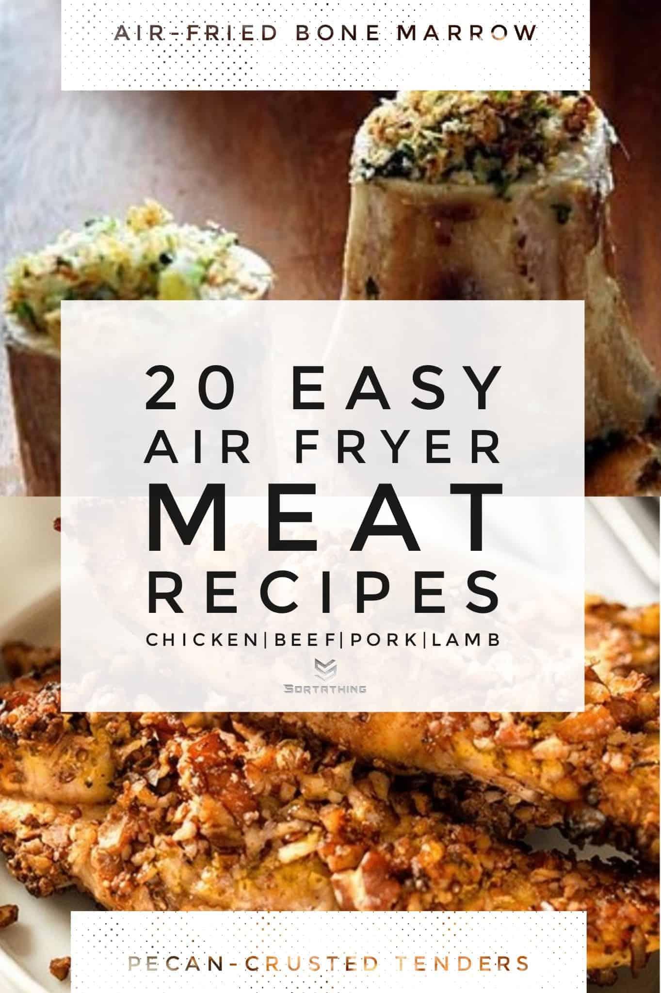 Roasted bone marrow & pecan-crusted chicken tenders
