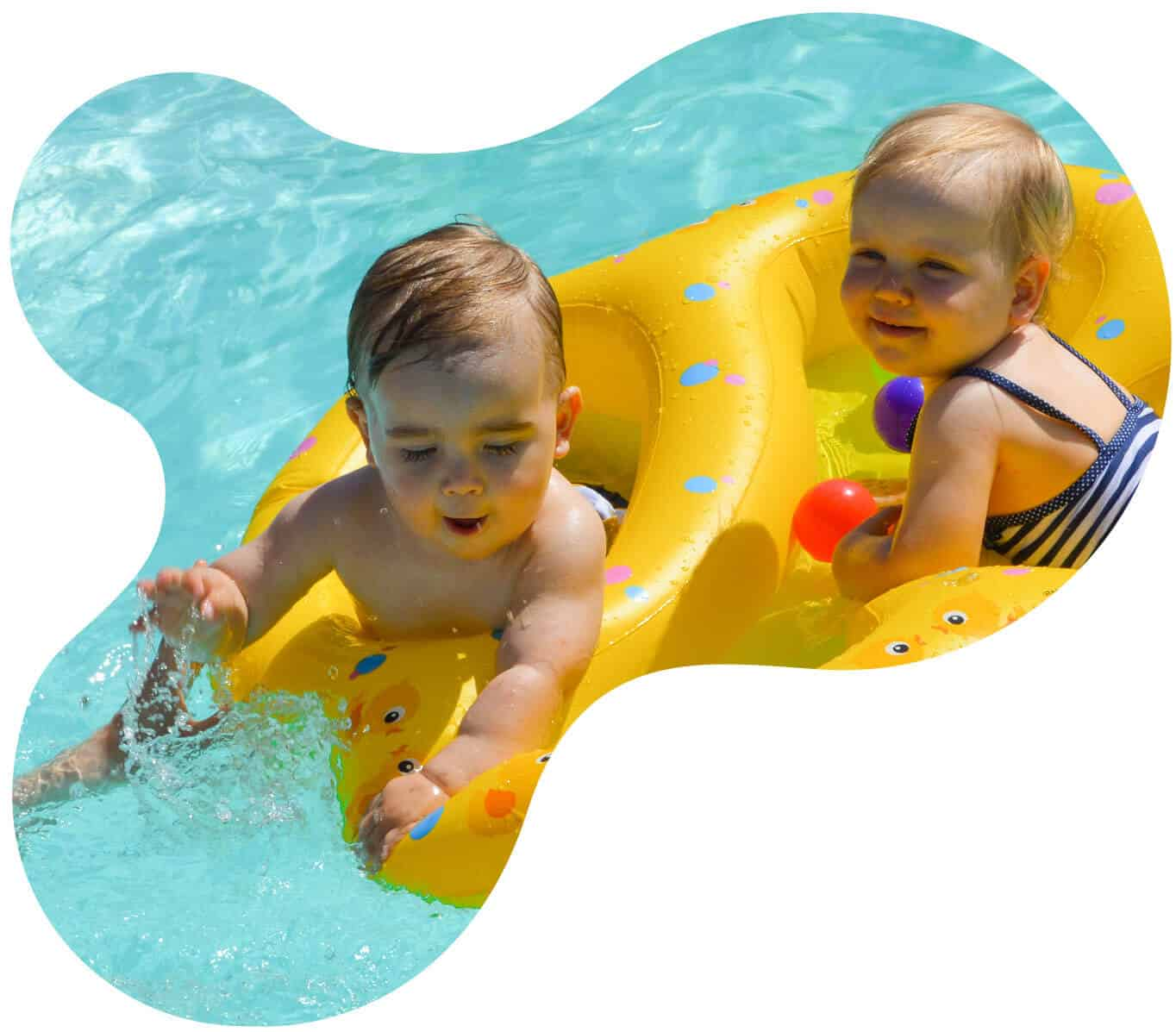 Twin Swim Float - Duo Float - Double Float - Tweeling Zwemband - TwinSwimFloat