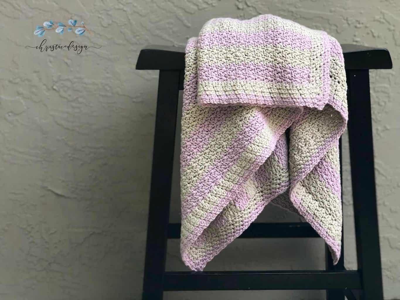 Eileen Crochet Cotton Blanket Free Pattern