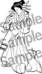 Free printable geisha coloring page