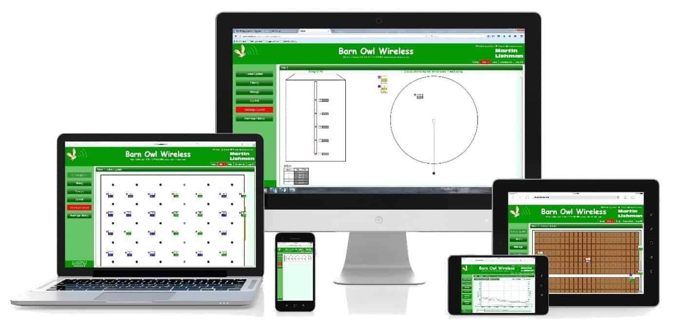Мартин Лисхман Барн сова Бежични аутоматски систем за праћење и контролу усјева ради на било којем уређају који подржава интернет претраживач
