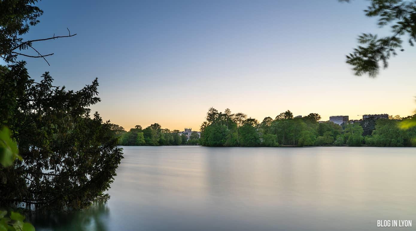 Coucher de soleil au Parc de la Tête d'Or | Blog In Lyon