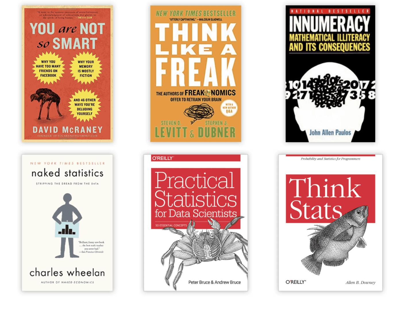 6 data science books