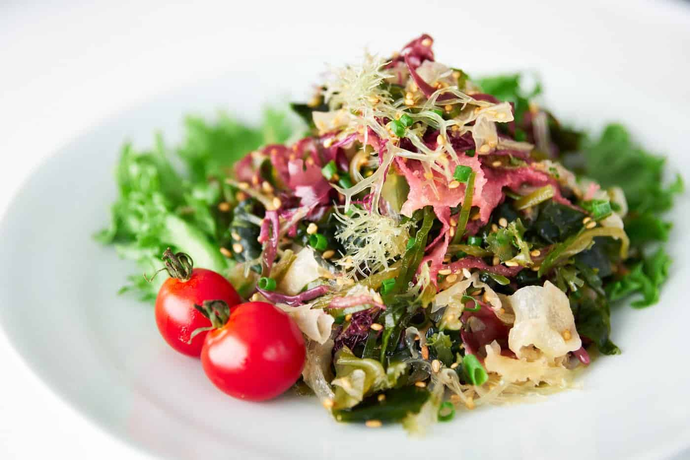With a variety of seaweed tossed in a sesame ginger dressing, this seaweed salad is easy to make at home.