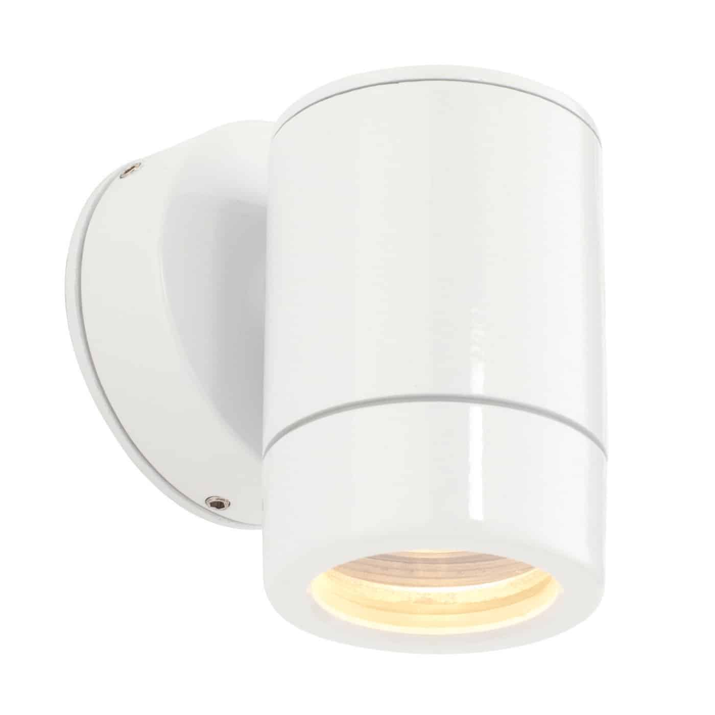 Saxby ST5009W Odyssey IP44 1 Light Outdoor Gloss White Wall Light