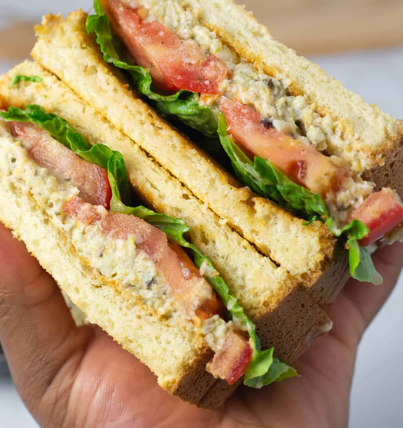 vegan tuna salad sandwiches