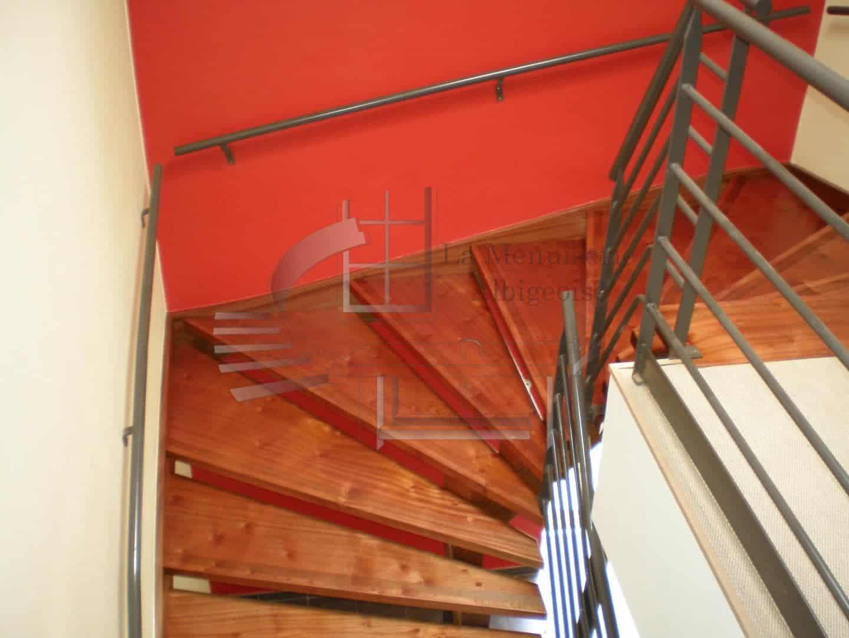 Escalier sans contre-marche en bois