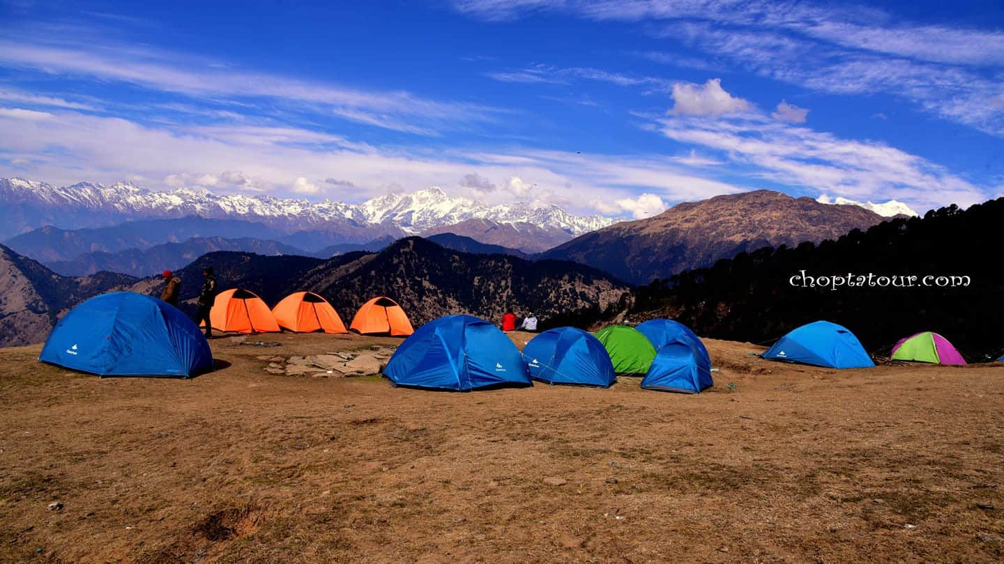 """Camping in Chopta - Dome Tents Pitching Camps in Chopta - Guide to Camping in Chopta"""""""
