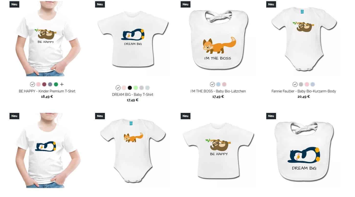 Glückswolke Bekleidung Mode T-Shirt Body Baby Kinder Auswahl Spreadshirt