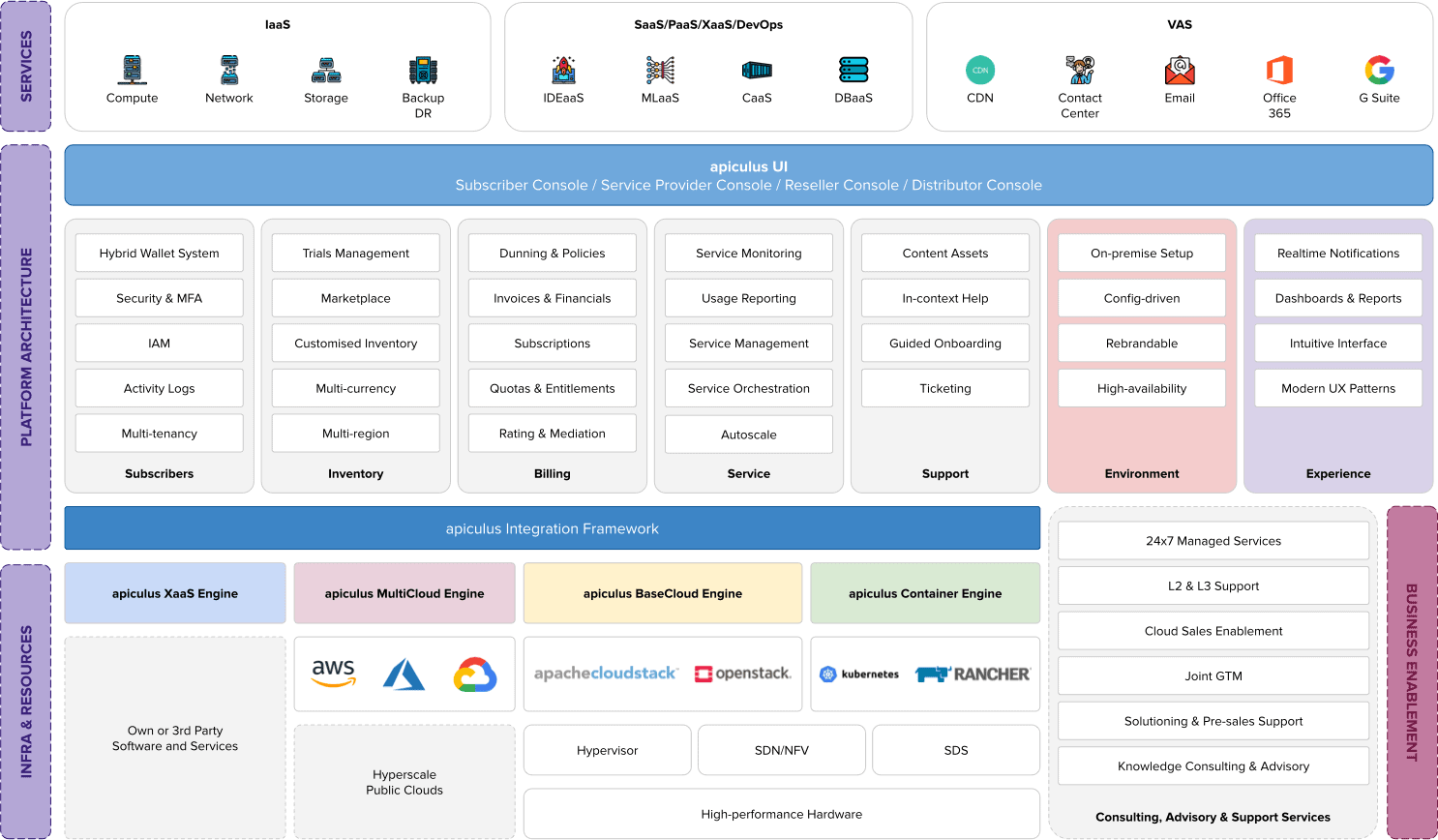 apiculus system platform infrastructure services business enablement
